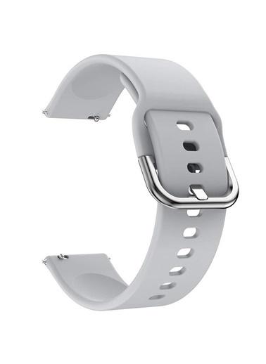 Microsonic Huawei Watch GT2 42mm Silikon Kordon Gri Gri